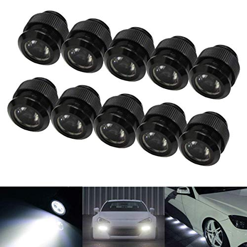 (iJDMTOY 10pc 30W High Power Flexible LED Lighting Kit For Daytime Running Light or Under Car Puddle Light, 6000K Xenon White)