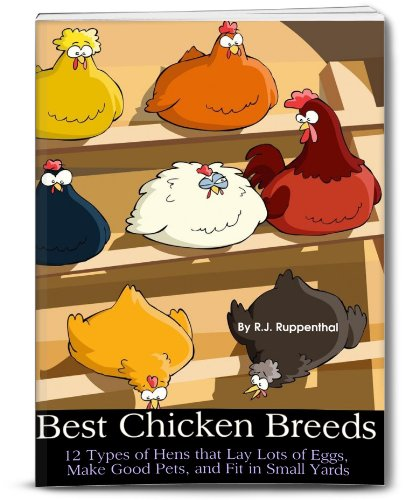 Best Chicken Breeds: 12 Types of Hens that Lay Lots of Eggs, Make Good Pets, and Fit in Small Yards (Booklet) by [Ruppenthal, R.J.]