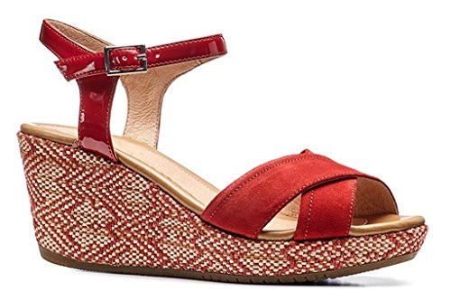 Stonefly 110263 Wedge Sandals Women Red BNEQuZ13t