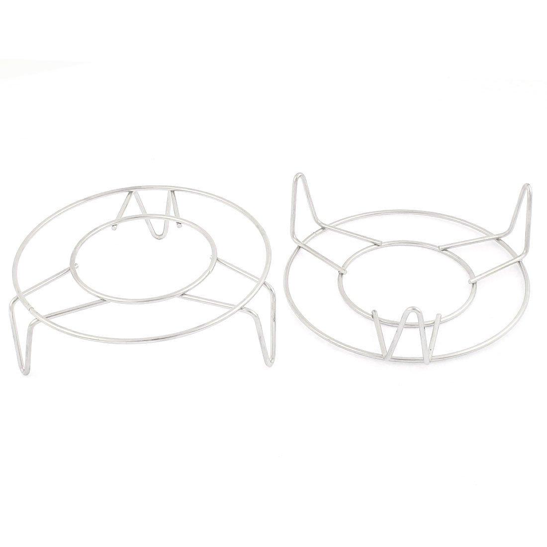Acero inoxidable de cocina rejilla de vapor Ronda soporte 12, 5 cm Dia 2 piezas DealMux