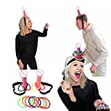 DPIST Bride to Be Bachelorette Party Games Decorations Dick Heads Funny Adult Game Ring Toss Hen Night Party Set Supplies