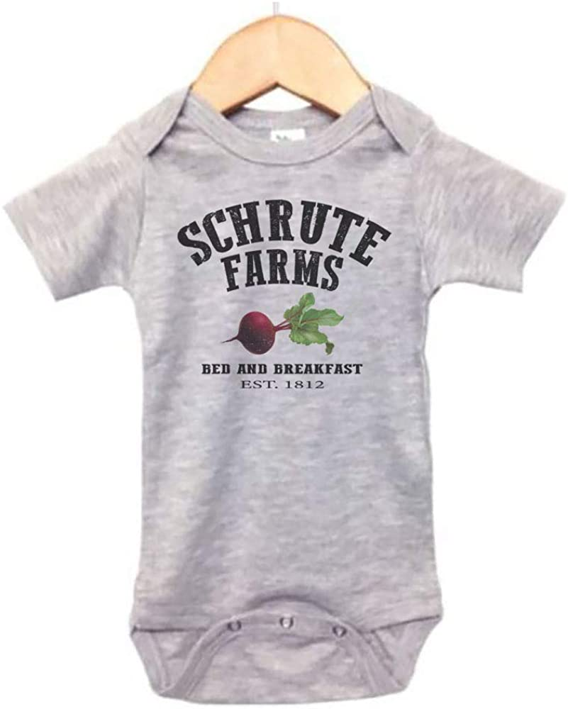 The Office Onesie/Schrute Farms/Baby Dwight Outfit/Sublimated Design/Unisex Bodysuit