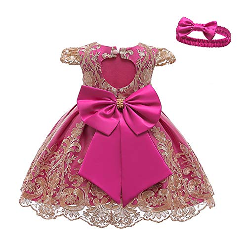 LZH meisje jurken feestjurk boog prinses jurken met hoofdband voor feest verjaardag bruiloft tutu prinses bloem kanten…