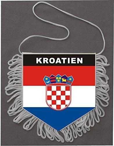 Wimpel Kroatien, Autowimpel, 5 Eck 9x10cm DSF