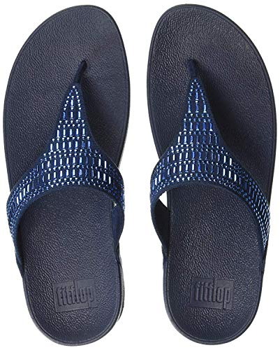 FitFlop Women's INCASTONE Toe-Thong Sandals Sandal, Midnight Navy, 9 M US