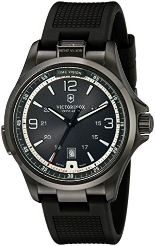Victorinox-Mens-241596-Night-Vision-Stainless-Steel-Watch-with-Black-Rubber-Band