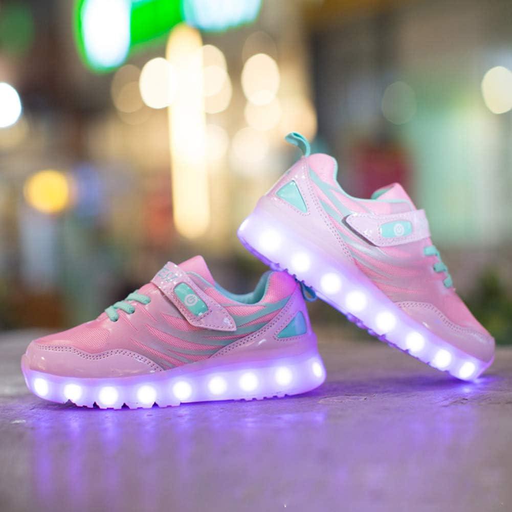 WQING Zapatillas de Deporte con luz LED para niños de Colores para niños Zapatillas Luminosas para bebés Zapatillas Deportivas para niños,Pink,31: Amazon.es: Deportes y aire libre