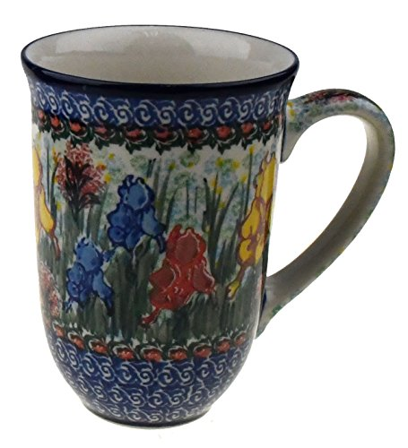 Ceramika Artystyczna Polish Hand Painted XL Coffee/Tea Mug (Iris Meadow) ()