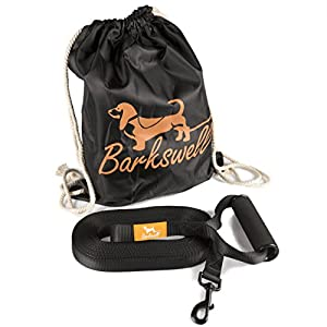 Dog Training Lead for Dogs and Puppies - 30 Foot Long with Padded Foam Barrel Handle - Free Carry Bag - Made from Strong Nylon - 1 Inch Wide 15