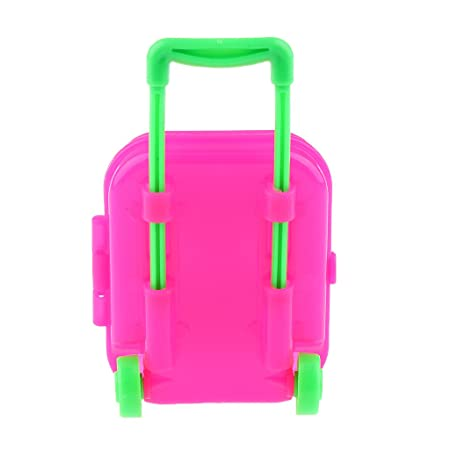 Amazon.com: Jili Online Cute Pink Plastic Rolling Suitcase Luggage ...