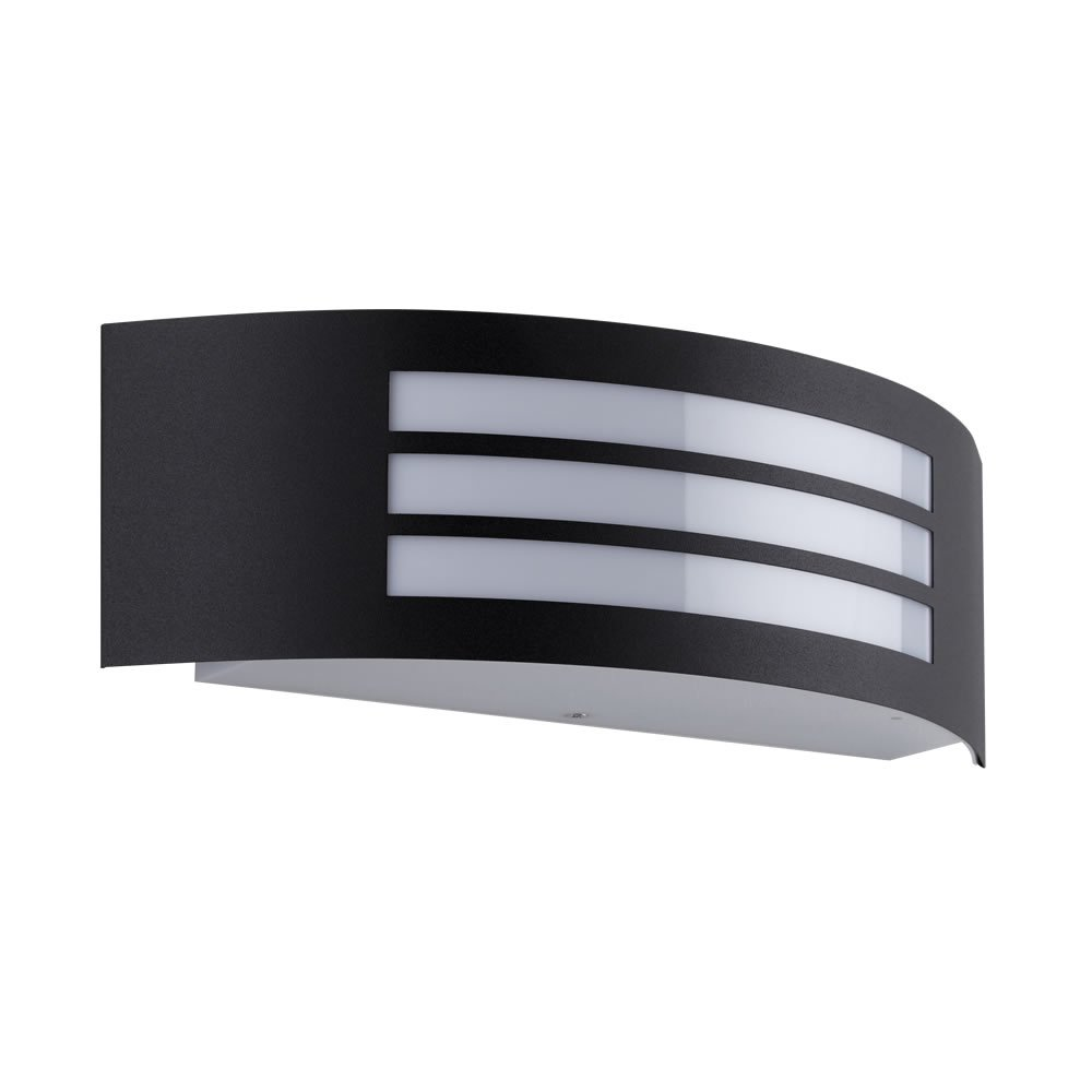 Biard Orleans IP44 Curved 'Grill' Stainless Steel Modern Indoor or Outdoor Wall Light - Garden, Hallway, Garage or Living Room