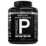 PROMIX:Undenatured Grass Fed Whey Isolate+Non-GMO L-Glutamine. Cold Processed with Multi-stage Micro-filtration. 30G Protein/ 6.9G BCAA/ 5G L-Glutamine.Easy to Mix.(5 lb bulk).59 Servings.Unflavored