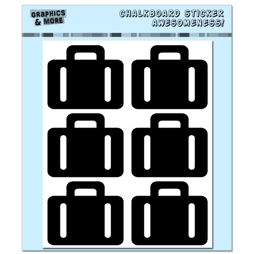 Briefcase Suitcase Travel - Bon Voyage - 4 Sheets of Chalkboard Vinyl Stickers - Container Bin Labels Drink Markers