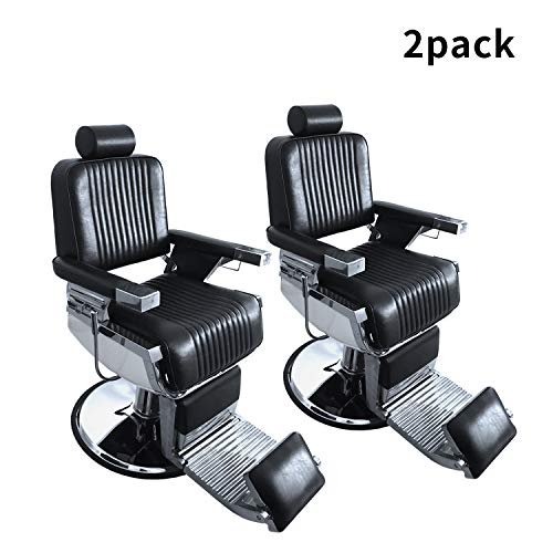 DOIT 2 Pack Heavy Duty Metal Hydraulic Recline Barber Chair Salon Chair, All Purpose Hydraulic...