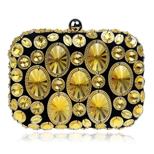 Bolso De Gold Tarde Las Monedero Fiesta Mujeres Del Gold La color Embrague Vestido grow Sky Diamante Suave EqvXXa