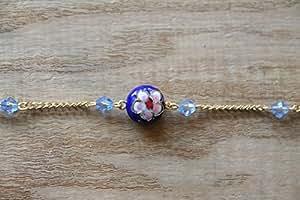 Art joyas auténtica soporte funda rígida bañado en plata collar con colgante de bañado en plata cadena collar.