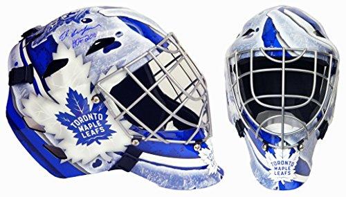 Ed Belfour Signed Toronto Maple Leafs Replica Hockey Goalie Mask w/HOF 2011 (Masks Goalie Toronto)