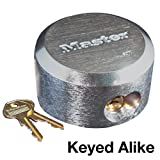 Master Lock 6271KA 10 Pack 2-7/8in. ProSeries Reinforced Hidden Shackle Rekeyable Pin Tumbler Keyed Alike Padlock, Chrome