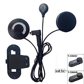 Amazon.es: FreedConn Auriculares Para Casco Moto Intercom Talkie accesorio Clip y auriculares manos libres para el T-COMVB y T-COMSC casco de la motocicleta ...