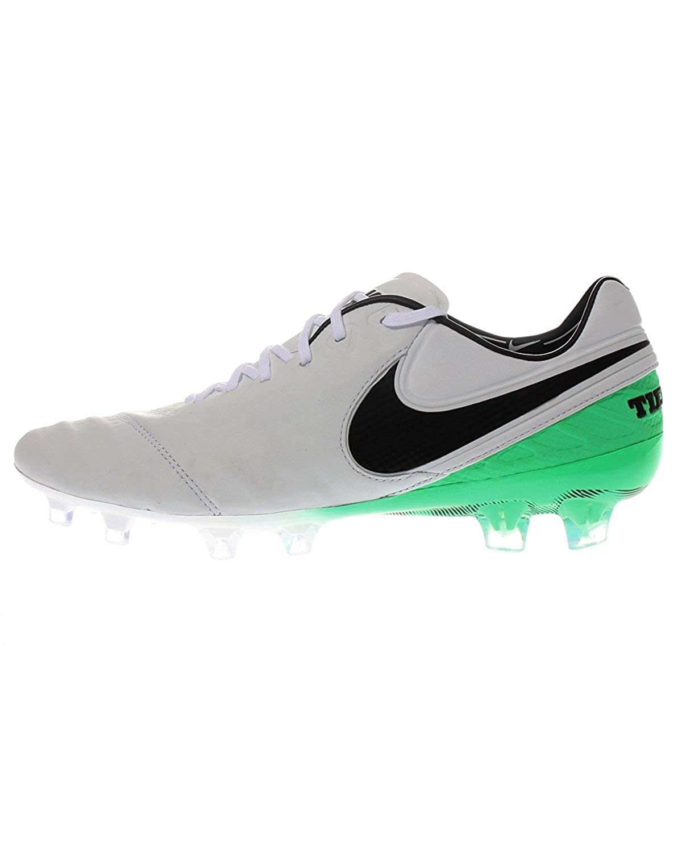 schwarz, Grün, Weiß Nike Tiempo Legend VI FG, Stiefel De Fútbol, Hombre