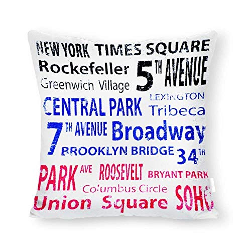 W.Morgan. New York Times Square Pillow Case Cushion