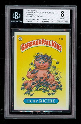 1985 Topps Garbage Pail Kids 1 Itchy Richie #11A BGS 8