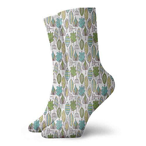 - Novelty Socks for Men and Women Floral Doodle Dandelions Boho Unisex Men's & Womens Socks