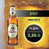 Bier Moretti (05 Flaschen à 0,66 Lt) Birra aus Italien