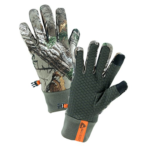 (West Chester RE93012 Cold Weather Utility Work Gloves with Fleece Lining and Silicone Palm Grip: Realtree Xtra Camo, Large, 1 Pair )