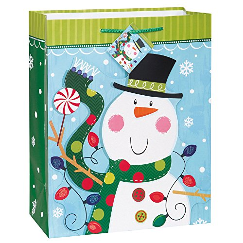 Large Snowman Holiday Gift Bag