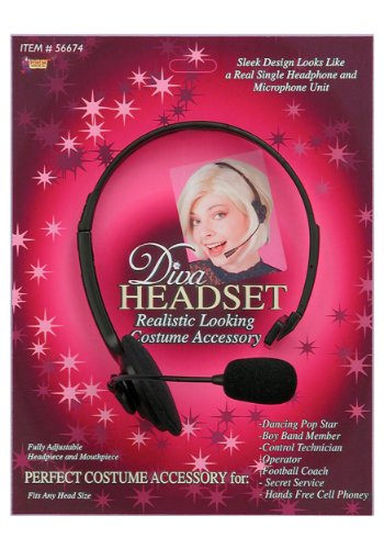 Dance Costumes Closeout - Diva Headset w/ Microphone (Standard)
