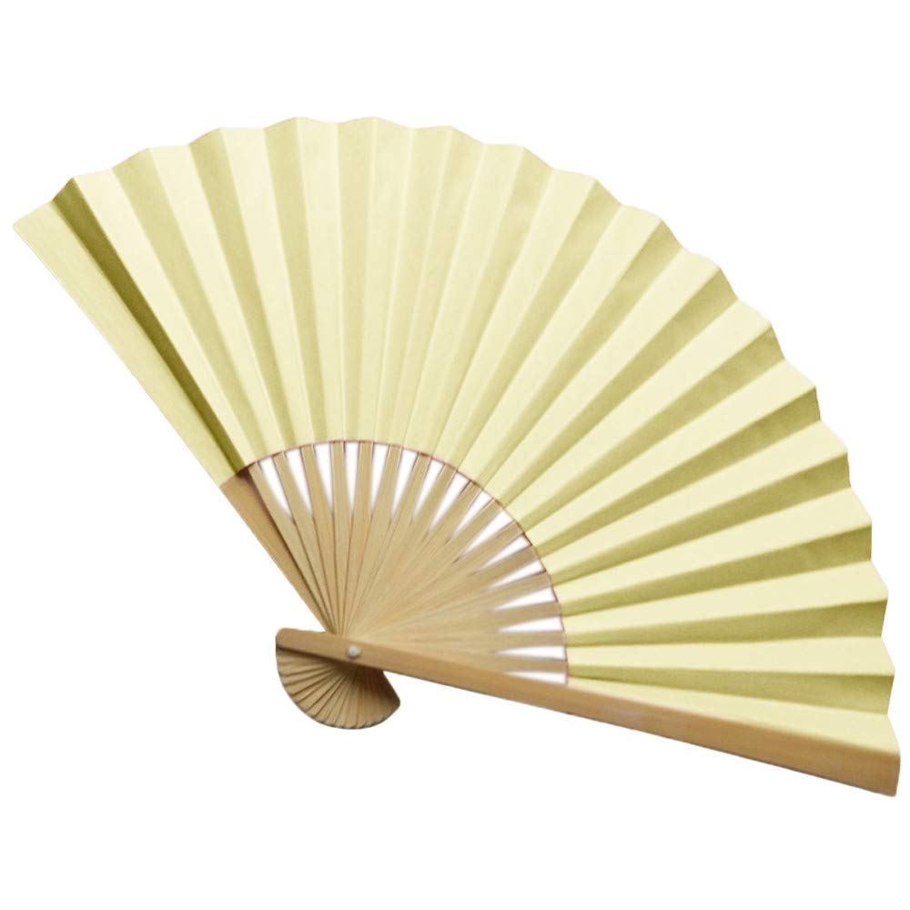 Amazon.com: Folding Fan Vibola Bamboo Folding Fans Solid Paper ...