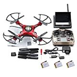 Kingtoys@ Jjrc H8d 4 Channel 2.4ghz Gyro Rc Quadcopter 5.8g Image Transmission Rc Explorers Quad Copter Drone with 2mp Hd Camera FPV Headless Mode+2 3.7v 500mah Battery+best Christmas Gifts