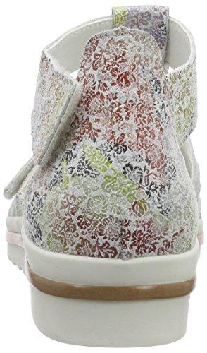 Waldläufer Florat Femme Offwhite Mehrfarbig Multicolore Ouvertes Sandales Hakura OxqOrZ