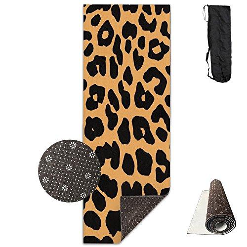 QNKUqz Cool Animal Leopard Print Deluxe Yoga Mat Aerobic Exercise Pilates
