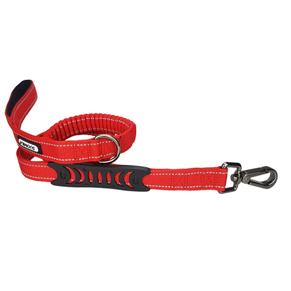1402.5cm Dog Leash Multi-Function Shockproof Explosion-Proof Elastic Telescopic Traction Belt, Suitable for Teddy Small and Medium Dogs- Red (Size   140  2.5cm)