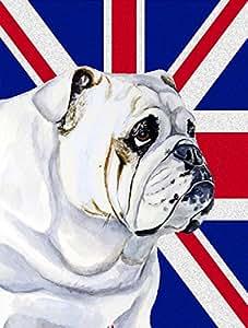 Caroline tesoros del LH9471CHF Bulldog Inglés con Inglés Union Jack Británica lienzo casa bandera