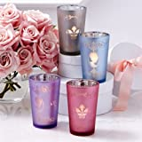 TWO'S COMPANY Lady Silhouette Glass Tealight Candle Holders - Set of 4