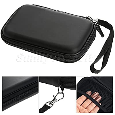 "2.5"" Portable External Hard Disk Drive Pouch Bag Carry Case Cover w Strap Black from Tool Pouches"