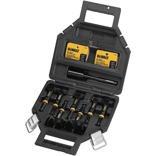 DEWALT DW1649 8-Piece 7/16-Inch Shank Self-feed Bit Kit (Replacement Spurs Feed Self Bit)