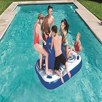 Nadar Fiesta Juguetes Balsa Inflable Agua Flotante Isla Juguete ...
