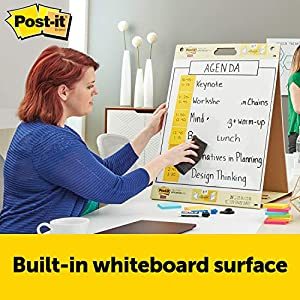 EXPO Low-Odor Dry Erase Markers, Fine Point, Black, 12-Count with Post-it Tabletop Easel Pad with Dry Erase Surface, 20 in. x 23 in., White, 20 Sheets/Pad