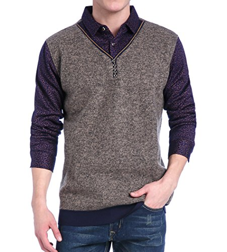 HCTOO Cardigan for Men Fashion Fashion Slim Cashmere Sweater Men–GS