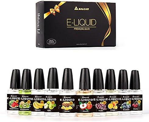 Salcar® 10x20ml Set E-Líquido para cigarrillos electrónicos, e ...