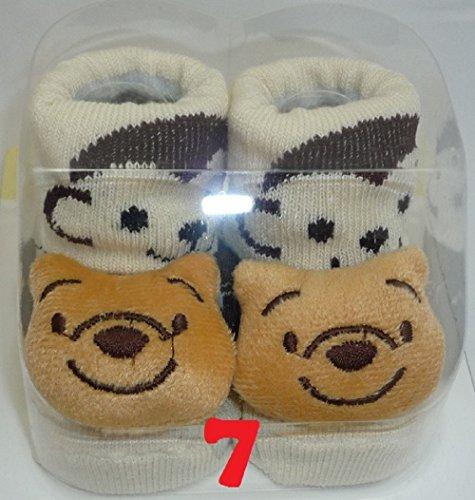 TechnoTec® Recién Nacido Bebé interior algodón antideslizante cálido calcetines animales dibujos animados zapatos zapatillas 8 White Rabbit 7 Brown Bear