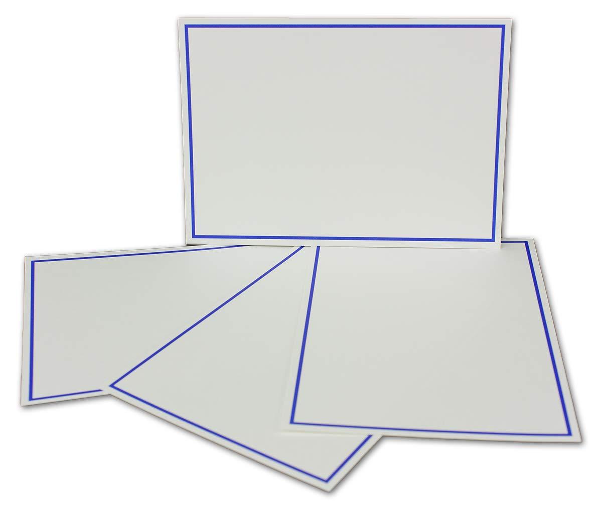 Postkarten-Einfachkarte-DIN A6-240 g m² - Natur-Weiss-Creme mit Rahmen in Hellblau - 200 Stück - Premium QUALITÄT - 10,5 x 14,8 cm - Ideal für Grußkarten und Einladungen - NEUSER FarbenFroh B07JQ8YRDX | Deutschland