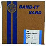 BAND-IT C30699 Galvanized Carbon Steel Band, 3/4'' Width X 0.030'' Thick, 100 Feet Roll