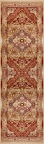 Well Woven Tribal Elegance Red Modern Persian Medallion 2x7 (2'3