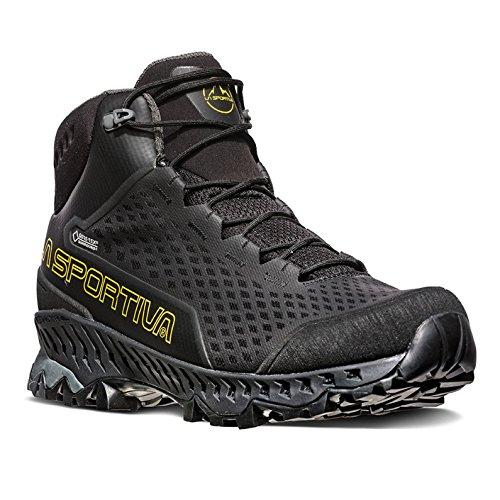 La Sportiva Stream GTX Hiking Shoe, Black/Yellow, 46