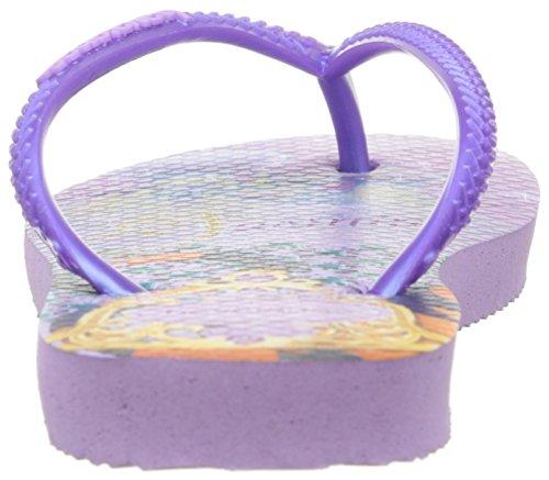 Gemusterte Havaianas Zehentrenner Mädchen/ Junge Slim Princess Violett (lilac/lilac 8722)
